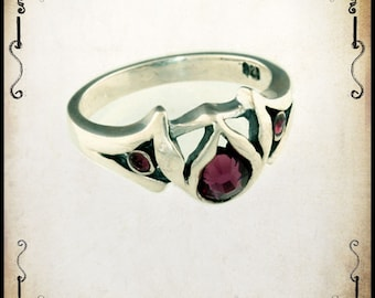 Melicia Medieval wedding ring - Sterling silver 925