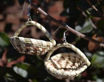 Sweetgrass Basket Earring