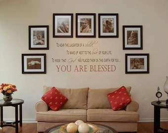 Custom You are Blessed Vinyl Wall Decal