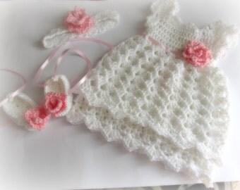 Baby Girl Dress Crochet, Newborn Crochet Dress, Baby Girl Dresses, Crochet DressBaby, Baby Crochet Dress