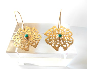Byzantine Earrings - Green