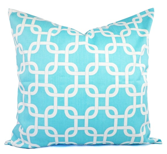 Teal Blue Throw Pillow Covers : Two Decorative Throw Pillow Covers in Teal by CastawayCoveDecor
