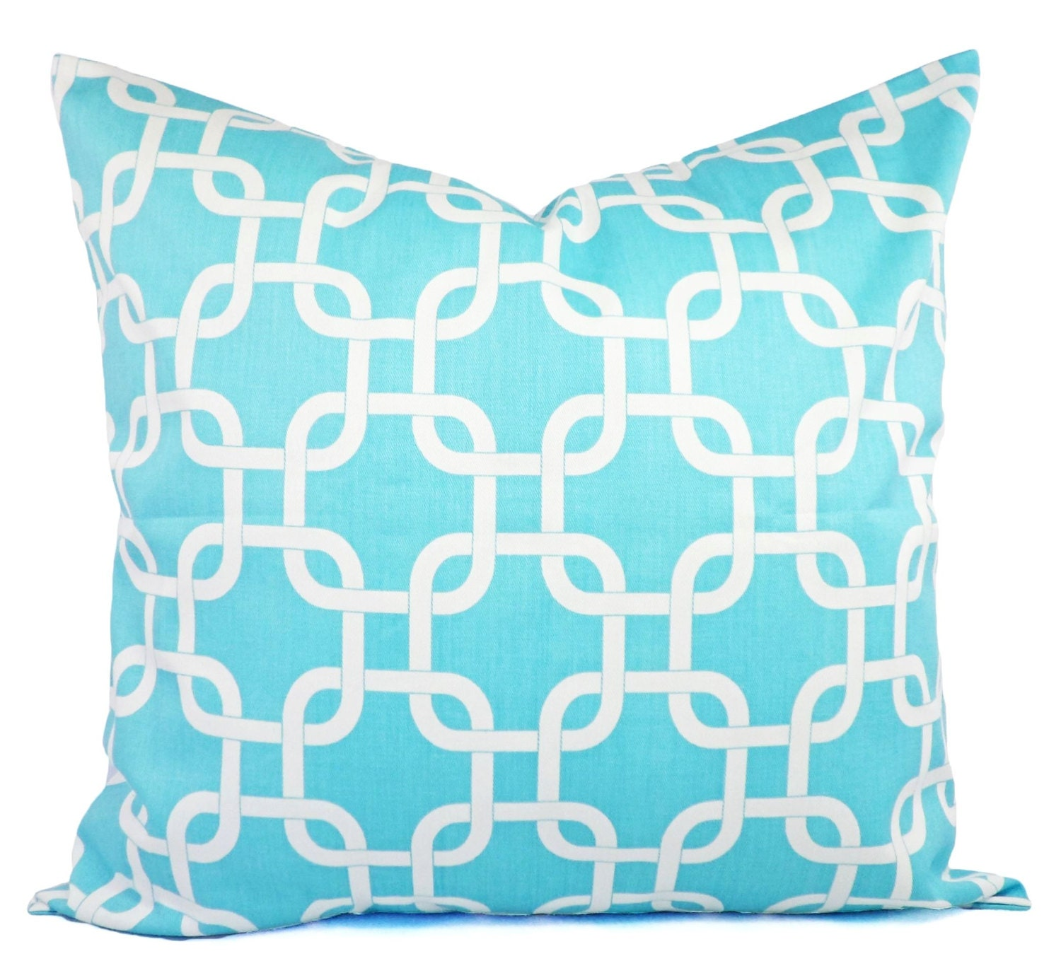 Throw Pillow Covers Teal : Two Decorative Throw Pillow Covers in Teal by CastawayCoveDecor