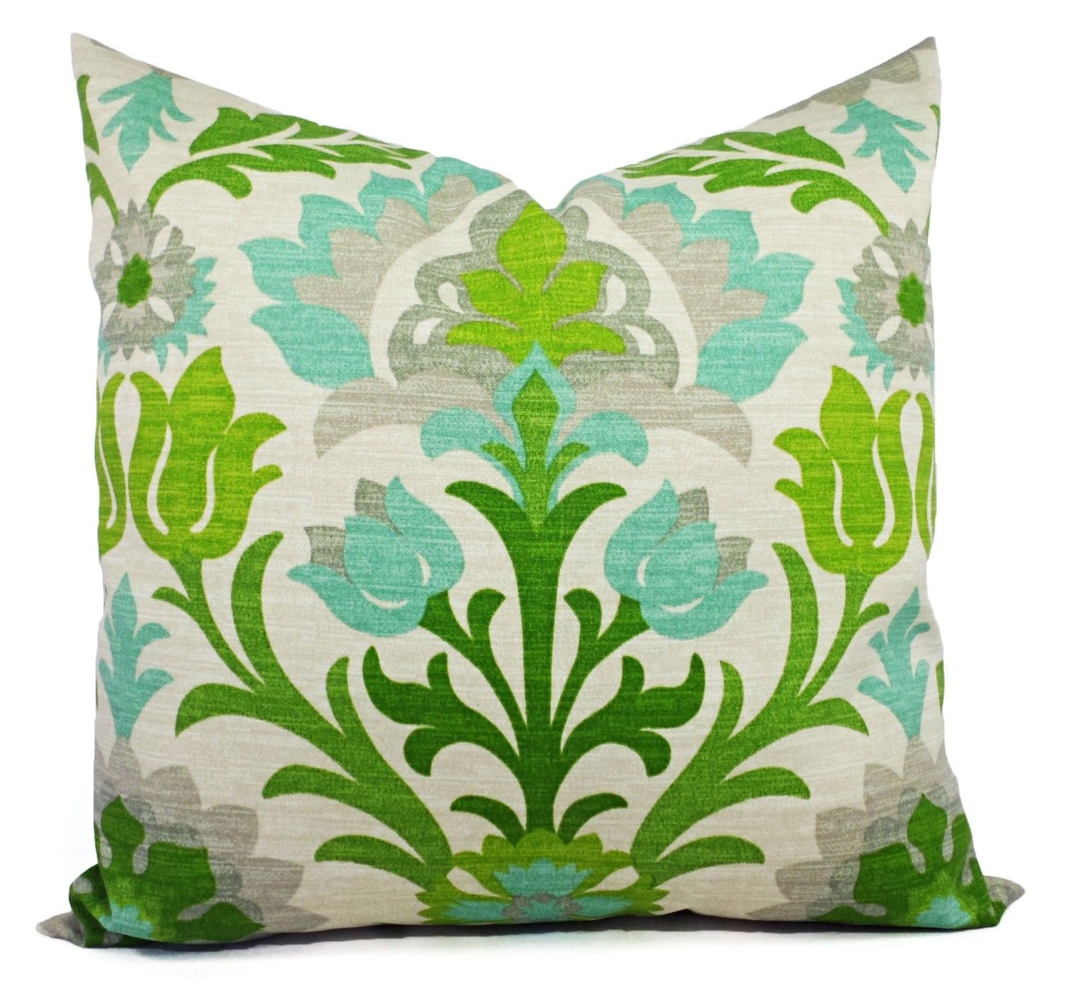 Two Green Outdoor Pillow Covers Green Outdoor Pillows