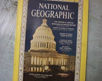 Vintage National Geographic Magazine January 1964, Vol. 125, No. 1