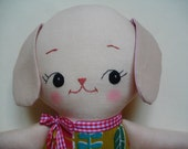 KAWAII PUPPY PLUSH - Adorable handmade puppy plushie cloth doll childrens toy - Made to Order