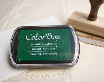 Green Pigment Ink Pad, Green Ink Pad. ColorBox Green Stamp Pad.