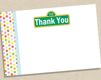 Thank You Cards - Sesame Street Thank You Cards