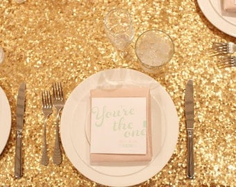 Popular items for sequin table linens on Etsy