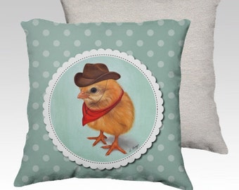 Chick cushion cover made to order - chick pillow- chick home decor-chick easter cushion-kids pillow-children cushion- chick gift.