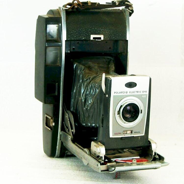 appareil photo vintage polaroid 900 electric eye land par brasslens. Black Bedroom Furniture Sets. Home Design Ideas