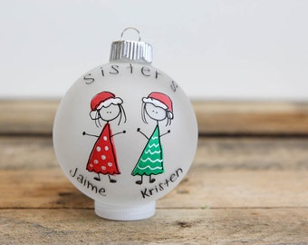 Sister/Brother Christmas Ornament - Personalized for Free