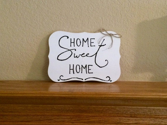 Home sweet home sign wall decor by cutelittlesigns on etsy Home sweet home wall decor