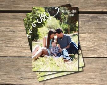 JOY Holiday Photo Card - 5x7