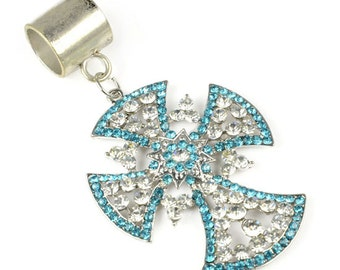 Cross pendant with scarf bail set for jewelry scarf X-mas gift,PT-817