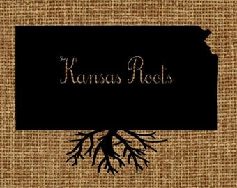 Burlap frame-able art - Kansas Roots
