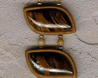 Bracelet - Tiger's Eye, Wood Jasper, African Queen Picture Jasper, Sterling Silver