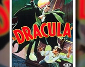 Vintage Dracula Movie Poster Reproduction - 11X17 - Wall Art Print - Wall Poster - Horror Movie Poster- Vintage Poster - Old Movie Poster