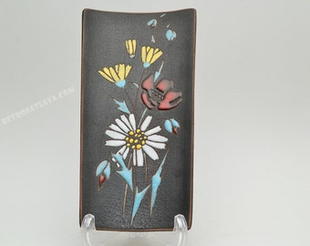 West German Fat Lava  wallplate  by Ruscha - Flowers