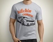 Girls Guys and Kids Old School Bitchin' Camaro Graphic Tee