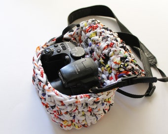 Camera case, t-shirt yarn camera case.