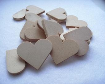 10 hearts wood, 4 x 3.7 cm (04-0001B)