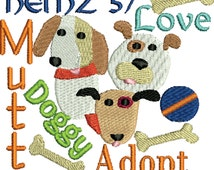 embroidery design Dog heinz 57 adopt a dog Embroidery Design 2 sizes, rescue dog
