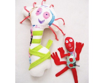 custom toy dolls after children's drawing, soft toys, customized toy