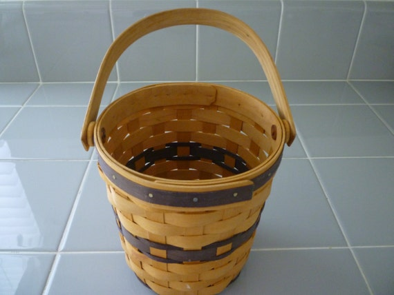 Handmade Baskets From Ohio : Basket signed and dated collectible