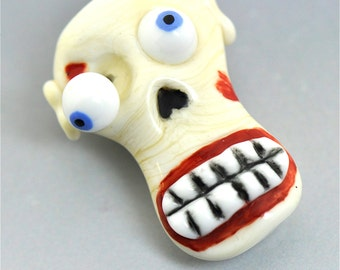 Lampwork Glass Zombie Bead