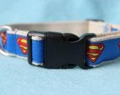 Hemp Dog Collar with Superman Logo
