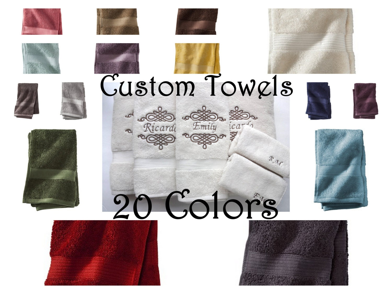 Decorative Hand Towels For Powder Room Monogram Hand Towel Etsy