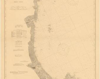 Wells, Maine to Cape Ann, MA - 1899 Nautical Map  - 80000 AC Chart 108 - Reprint