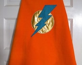 Large: Blue Lightning Super Hero Cape