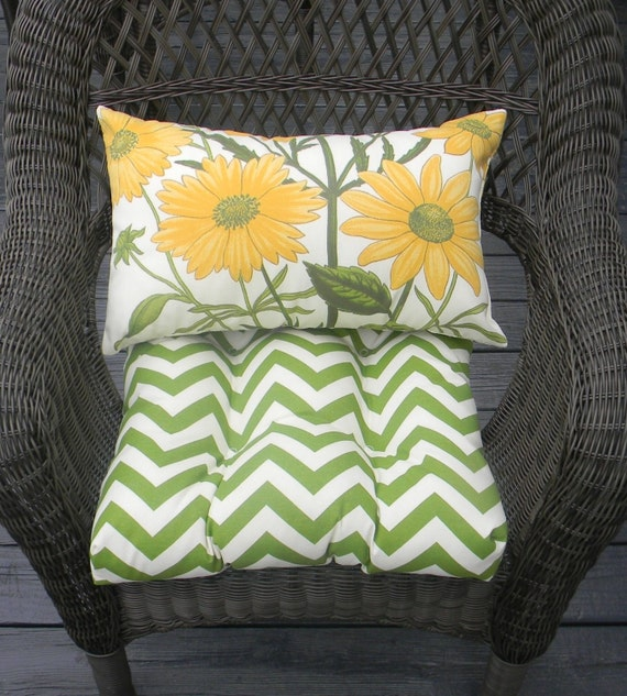indoor outdoor wicker cushion set yellow by pillowscushionsohmy. Black Bedroom Furniture Sets. Home Design Ideas
