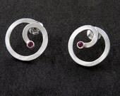 Alen Lapierre - Sterling silver and ruby earrings