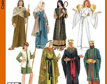 Simplicity :4795 Adult Bible Character Nativity Costume Sewing Pattern ...