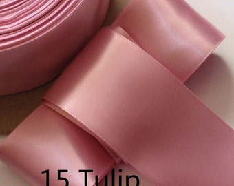5 yards 2 inches Single Face Satin Ribbon in Tulip DM 20-15