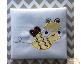 Bee Machine Embroidery Applique Design