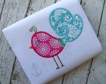 SWIRLY BIRD machine embroidery design