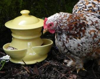 Ceramic Chicken Feeder (size small)