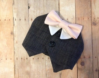 Charcoal Grey Dog Tuxedo