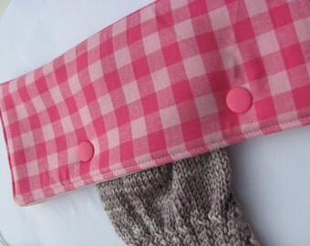 Kit for project on dpn fabric pink tiles