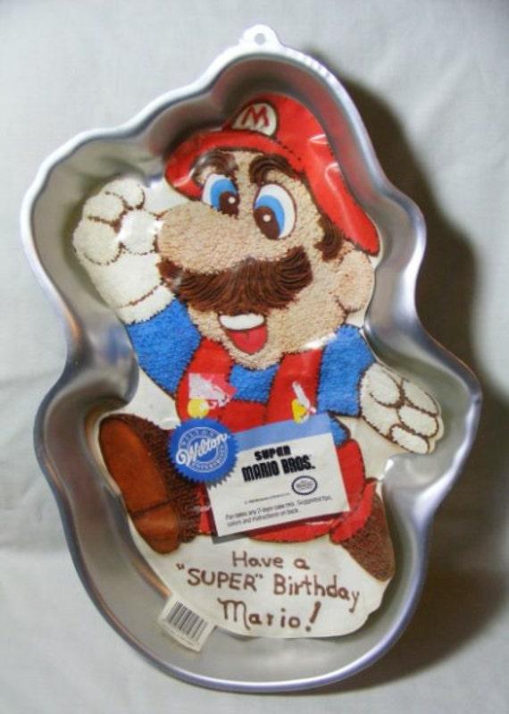 Vintage Wilton Super Mario Cake Pan 1989 By Bobbyscollectibles