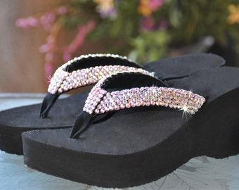 "Swarovski Crystal Rhinestone Flip Flop Sandals For your Wedding ""Princess Diva's"" by Sparkle Steps"