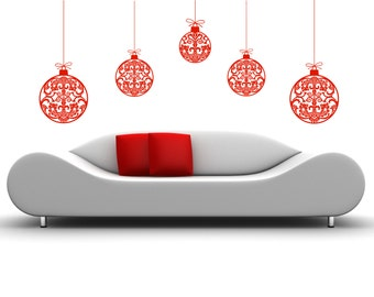 Ornament Wall Decal Etsy - Christmas wall decals removable
