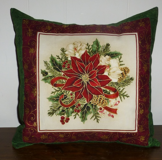 Christmas Decorative Pillow Cover by SuesCreatingCottage on Etsy