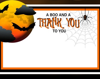 Halloween thank you | Etsy