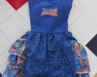 Stars and stripes Patriotic 4th of July  USA romper  size  24 months