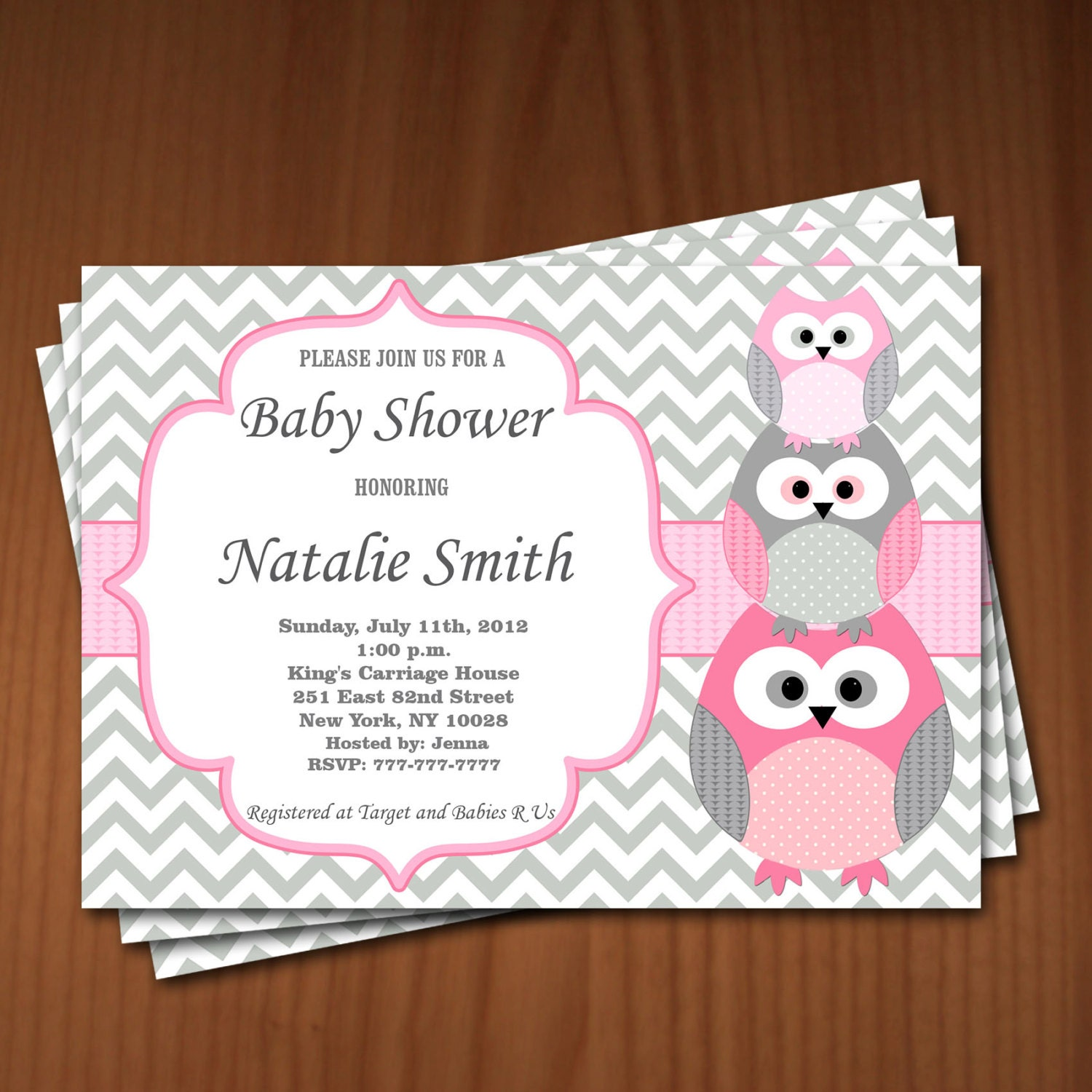 owl baby shower invitation girl baby shower invitations